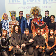 NLD/Amsterdam/20160216 - Musical The Lion King is terug!, cast en Irene Moors, producent Albert Verlinde, Stephen Crock