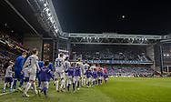 Spillerne går på banen til kampen i UEFA Europa League mellem FC København og Dynamo Kiev den 7. november 2019 i Telia Parken (Foto: Claus Birch).