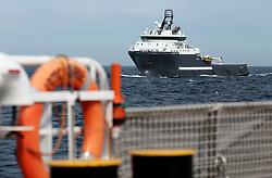 NORTH SEA MYAS 17JUN19 - The BP-chartered offshore supply vessel Skandi Hera follows the the Greenpeace ship Arctic Sunrise at close proximity in the North Sea.<br /> <br /> jre/Photo by Jiri Rezac / Greenpeace<br /> <br /> © Jiri Rezac 2019