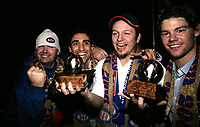 Fotball <br /> NM CUP <br /> Cupfinale<br /> 09.11.08<br /> Youngstorget fest<br /> Vålerenga VIF - Stabæk<br /> Tommy Steine - Mohammed Abdellaoue - Moa  - Nicolas Carlie - Daniel Fredheim Holm<br /> Foto - Kasper Wikestad