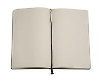 Notebook on white bacground - studio shot