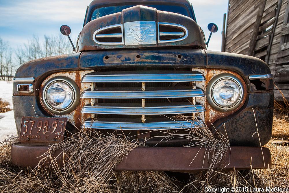 Vintage 1950s Mercury Truck Grill, Alberta Canada
