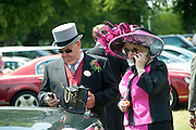 ANDREW ELLIOT; KATHERINE ELLIOT, Royal Ascot. Tuesday. 14 June 2011. <br /> <br />  , -DO NOT ARCHIVE-© Copyright Photograph by Dafydd Jones. 248 Clapham Rd. London SW9 0PZ. Tel 0207 820 0771. www.dafjones.com.