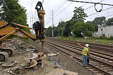 Railroad Station Fairfield Metro Center Connecticut   Construction Photo Extras & Rail Movement