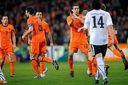 09-02-2011 VOETBAL: NEDERLAND - OOSTENRIJK: EINDHOVEN<br /> Netherlands in a friendly match with Austria won 3-1 / Penalty Dirk Kuyt  NED scored the 3-0<br /> ©2011-WWW.FOTOHOOGENDOORN.NL