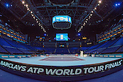 General arena view before the Finals and day eight of the Barclays ATP World Tour Finals at the O2 Arena, London, United Kingdom on 20 November 2016. Photo by Martin Cole.