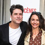 NLD/Amsterdam/20140622 - Premiere Bedscenes, Daniel Boissevain en partner Vanessa Henneman