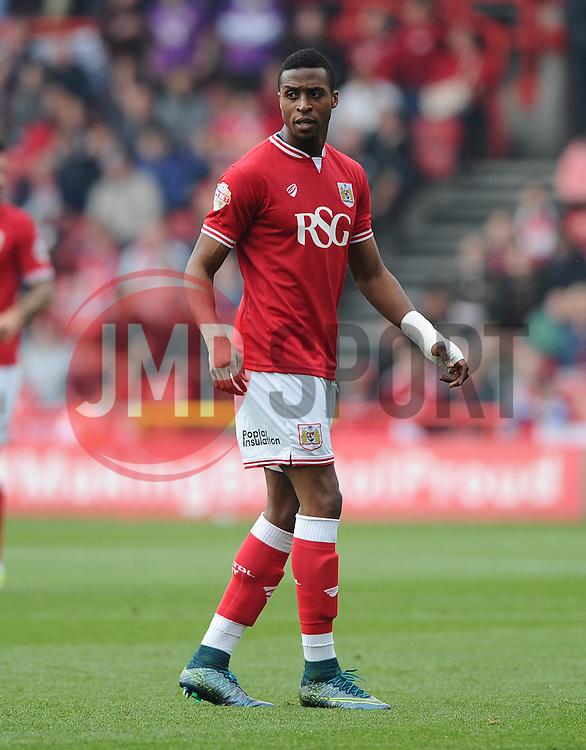 Jonathan Kodjia of Bristol City  - Mandatory byline: Joe Meredith/JMP - 07966 386802 - 03/10/2015 - FOOTBALL - Ashton Gate - Bristol, England - Bristol City v MK Dons - Sky Bet Championship