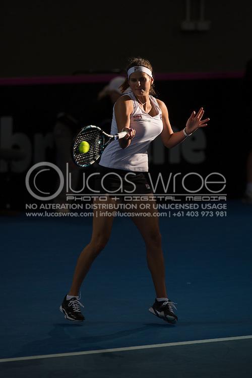Julia Görges (GER), April 20, 2014 - TENNIS : Fed Cup, Semi-Final, Australia v Germany. Pat Rafter Arena, Brisbane, Queensland, Australia. Credit: Lucas Wroe