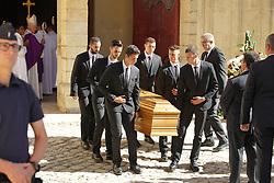 July 4, 2017 - Montpellier, FRANCE - Cercueil de Louis Nicollin (Credit Image: © Panoramic via ZUMA Press)
