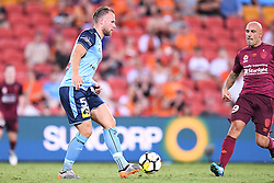 January 8, 2018 - Brisbane, QUEENSLAND, AUSTRALIA - Jordy Buijs of Sydney (5) passes the ball during the round fifteen Hyundai A-League match between the Brisbane Roar and Sydney FC at Suncorp Stadium on Monday, January 8, 2018 in Brisbane, Australia. (Credit Image: © Albert Perez via ZUMA Wire)