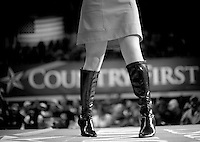 Sarah Palin: She Could Have Been Vice President..At a John McCain rally in Pottsville, Pennsylvania, Monday October 27, 2008, Sarah Marince, a singer and dressed in Sarah Palin style clothing, entertained the crowd before the arrival of the McCains with women empowerment songs. .