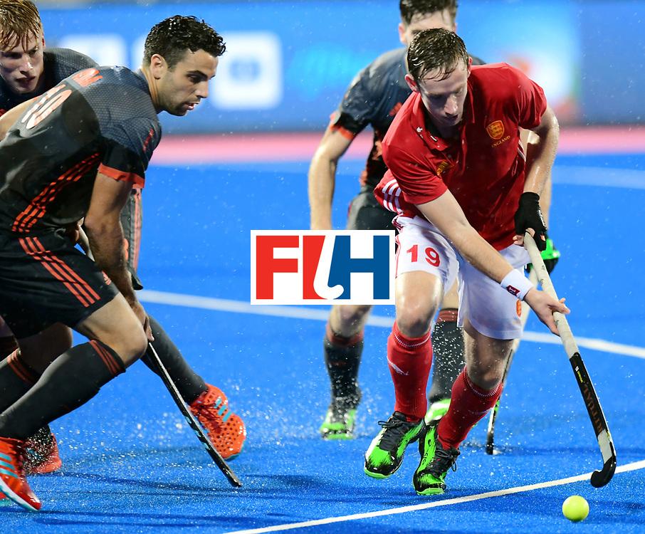 Odisha Men's Hockey World League Final Bhubaneswar 2017<br /> Match id:17<br /> England v Netherlands<br /> Foto: David Goodfield (Eng) and Valentin Verga (Ned) <br /> COPYRIGHT WORLDSPORTPICS FRANK UIJLENBROEK