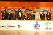 DESCRIZIONE : Atene Athens Eurolega Euroleague 2006-07 Final Four Conferenza Presentazione Press Conference<br /> GIOCATORE : Planinic Maljkovic Obradovic Alvertis Bertomeu Messina Planinic Scariolo Sanchez<br /> SQUADRA : Tau Vitoria Panathinaikos Atene<br /> EVENTO : Atene Athens Eurolega Euroleague 2006-07 Final Four Conferenza Presentazione Press Conference<br /> GARA : <br /> DATA : 03/05/2007 <br /> CATEGORIA : Ritratto<br /> SPORT : Pallacanestro <br /> AUTORE : Agenzia Ciamillo-Castoria/S.Silvestri
