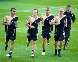 MARSEILLE, FRANCE - Monday, September 15, 2008: Olympique de Marseill's Boudewijn Zenden training ahead of the opening UEFA Champions League Group D match against Liverpool at Stade Velodrome. (Photo by David Rawcliffe/Propaganda)