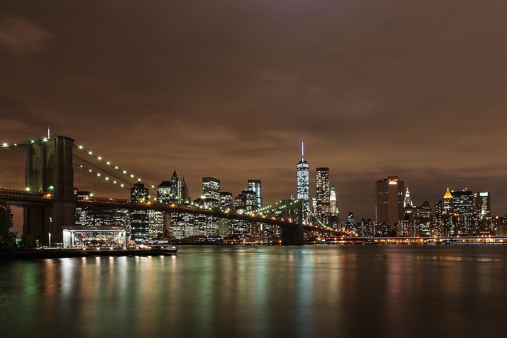 Brooklyn Bridge & Lower Manhattan<br /> New York City