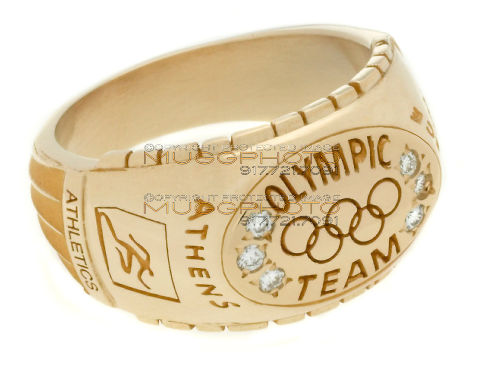 diamond and gold olympic team ring
