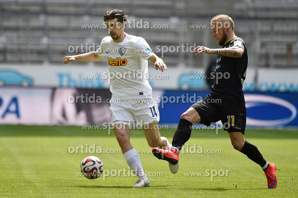 18.04.2015, Allianz Arena, M&uuml;nchen, GER, 2. FBL, TSV 1860 M&uuml;nchen vs VfL Bochum, 29. Runde, im Bild Adnan Zahiovicbo (VfL Bochum), Daniel Adlung (TSV 1860 Muenchen), v.li. Aktion, // during the 2nd German Bundesliga 29th round match between TSV 1860 M&uuml;nchen vs VfL Bochum at the Allianz Arena in M&uuml;nchen, Germany on 2015/04/18. EXPA Pictures &copy; 2015, PhotoCredit: EXPA/ Eibner-Pressefoto/ Buthmann<br /> <br /> *****ATTENTION - OUT of GER*****