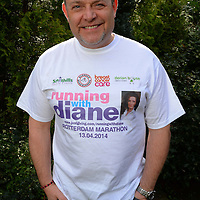 Picture shows actor John Thomson who is backing Dave Beevers who is running the Rotterdam Marathon in memory of his late wife Diane.<br /> See Story by Dave Beevers 07565855830<br /> Pictures by Paul Currie<br /> 07796 146931<br /> www.paulcurriephotos.com