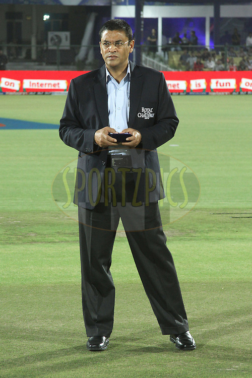 Match Referee Ranjan Madugalle during match 30 of the the Indian Premier League (IPL) 2012  between The Rajasthan Royals and the Royal Challengers Bangalore held at the Sawai Mansingh Stadium in Jaipur on the 23rd April 2012..Photo by Shaun Roy/IPL/SPORTZPICS