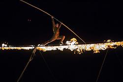 © Licensed to London News Pictures. 06/08/2016. WILDERNESS FESTIVAL, CORNBURY PARK, OXFORDSHIRE, UK.  The Saturday night spectacular performance by Cirque bijou thrilled thousands at the Wilderness festival.  Photo credit: MARK HEMSWORTH/LNP