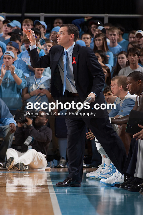 01 December 2009: North Carolina Tar Heels assistant coach C.B. McGrath during an 82-89 win over the Michigan State Spartans at the Dean Smith Center in Chapel Hill, NC.