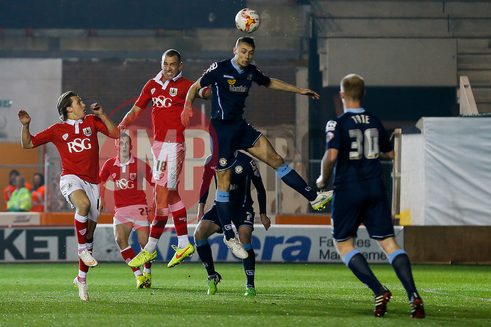 b16 is challenged by George Ray of Crewe Alexandra - Photo mandatory by-line: Rogan Thomson/JMP - 07966 386802 - 17/03/2015 - SPORT - FOOTBALL - Bristol, England - Ashton Gate Stadium - Bristol City v Crewe Alexandra - Sky Bet League 1.