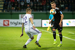 Marko Milec of Maribor and Luka Bobicanec of Mura and during football match between NŠ Mura and NK Maribor in semifinal Round of Pokal Telekom Slovenije 2018/19, on April 24, 2019 in Fazanerija, Murska Sobota, Slovenia. Photo by Blaž Weindorfer / Sportida