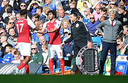 Mohamed Elneny of Arsenal replaces Alex Iwobi of Arsenal - Mandatory by-line: Alex James/JMP - 17/09/2017 - FOOTBALL - Stamford Bridge - London, England - Chelsea v Arsenal - Premier League