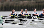 Putney, Great Britain.  2015 Pre Boat Race Fixture, Cambridge University Women's Boat Club vs Imperial College Women's Boat Club, Championship Course, River Thames.  England. <br /> Sunday  08/03/2015 <br /> <br /> [Mandatory Credit; Peter Spurrier/Intersport-images]<br /> Crews: CUWBC:<br /> b) Hannah Evans, 2) Ashton Brown, 3) Caroline Reid*, 4) Claire Watkins*, 5) Melissa Wilson*, 6) Holly Hill, 7) Hannah Roberts, stroke, Fanny Belais and Cox, Rosemary Ostfeld.<br /> <br /> ICBC:<br /> Bow Sara PARFETT, 2. Jo THOM, 3. Victoria WATTS, 4Georgina FRANCIS,5. Michelle VELIE, 6. Ruth WHYMAN, 7. Isa von LOGA, Stroke Rebecca SHORTEN, and Cox. Sophie SHAWDON.