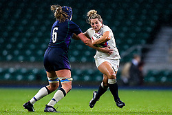 Rachael Burford of England Women takes on Sarah Bonar of Scotland Women - Mandatory by-line: Robbie Stephenson/JMP - 16/03/2019 - RUGBY - Twickenham Stadium - London, England - England Women v Scotland Women - Women's Six Nations