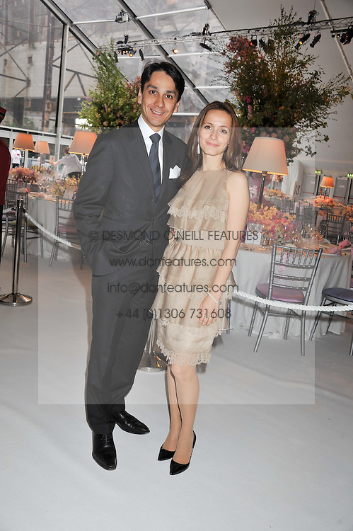 FRANCOIS &  LIUDMILA LE TROQUER at a dinner hosted by Cartier following the following the opening of the Chelsea Flower Show 2012 held at Battersea Power Station, London on 21st May 2012.