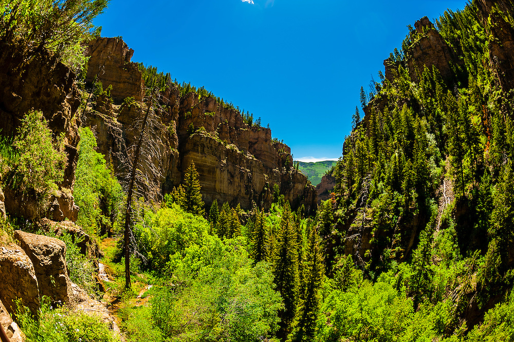 Dead Horse Creek Canyon, Glenwood Canyon, near Glenwood Springs, Colorado USA.