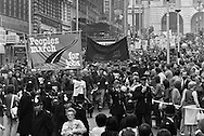 Peoples March for Jobs, Yorkshire and Liverpool to London. entering Trafalgar Square 31/05/1981