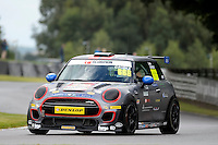 #666 Luke Caudle Mini F56 JCW during the MINI Challenge - JCW at Oulton Park, Little Budworth, Cheshire, United Kingdom. August 20 2016. World Copyright Peter Taylor/PSP.