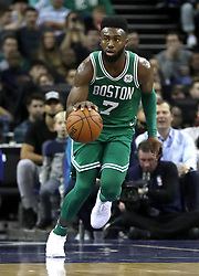 Boston Celtics' Jaylen Brown during the NBA London Game 2018 at the O2 Arena, London. PRESS ASSOCIATION Photo. Picture date: Thursday January 11, 2018. See PA story BASKETBALL London. Photo credit should read: Simon Cooper/PA Wire. RESTRICTIONS: Editorial use only, No commercial use without prior permission