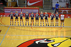 29 AUG 2009: The 2009 Golden Eagles of Oral Roberts University. The Redbirds of Illinois State were defeated by the Golden Eagles of Oral Roberts in 4 sets during play in the Redbird Classic on Doug Collins Court inside Redbird Arena in Normal Illinois