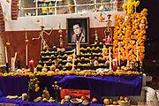 An ofrendas altar during the Day of the Dead festival November 1, 2017 in Janitzio Island, Michoacan, Mexico.