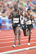 Joshua Cheptegei (UGA) places second in the 3,000m in 7:33.26during the 54th  Bislett Games in an IAAF Diamond League meet in Oslo, Norway, Thursday, June 13, 2019. (Jiro Mochizuki/Image of Sport)