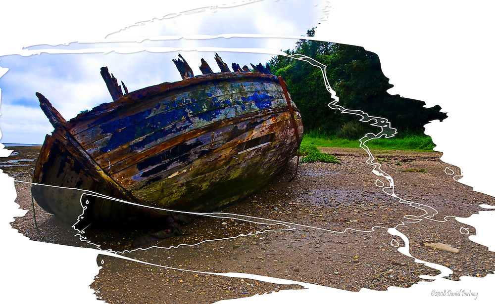 The Wreck at Saltmills wooden ship fineart