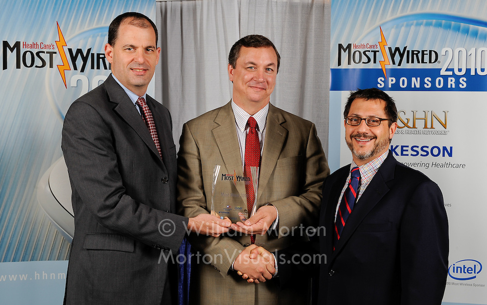 Most Wired award winner at the AHA convention at the Manchester Grand Hyatt. Event photography by Dallas event photographer William Morton of Morton Visuals.