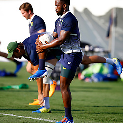 SHIZUOKA, JAPAN - SEPTEMBER 30: Siya Kolisi (c) during the South African national rugby team training session at Nexta Training Field on September 30, 2019 in Shizuoka, Japan. (Photo by Steve Haag/Gallo Images)
