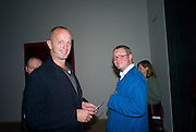 JOHNNY SHAND KYDD; FERGUS HENDERSON. Mark Rothko private view. Tate Modern. 24 September 2008 *** Local Caption *** -DO NOT ARCHIVE-© Copyright Photograph by Dafydd Jones. 248 Clapham Rd. London SW9 0PZ. Tel 0207 820 0771. www.dafjones.com.