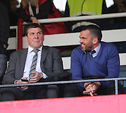 St Johnstone manager Tommy Wright and assistant Callum Davidson watch Dundee play Celtic - Dundee v Celtic - SPFL Premiership at Dens Park<br /> <br /> <br />  - &copy; David Young - www.davidyoungphoto.co.uk - email: davidyoungphoto@gmail.com