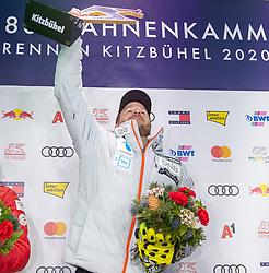 24.01.2020, Streif, Kitzbühel, AUT, FIS Weltcup Ski Alpin, SuperG, Herren, Siegerehrung, im Bild Kjetil Jansrud (NOR, 1. Platz) // race winner Kjetil Jansrud of Norway during the winner ceremony for the men's SuperG of FIS Ski Alpine World Cup at the Streif in Kitzbühel, Austria on 2020/01/24. EXPA Pictures © 2020, PhotoCredit: EXPA/ Johann Groder