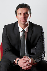 CARDIFF, WALES - Tuesday, December 14, 2010: Wales' new manager Gary Speed pictured at the Vale of Glamorgan Hotel after his appointment by the Football Association of Wales. (Pic by: David Rawcliffe/Propaganda)
