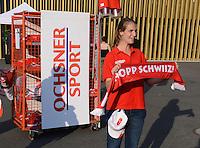 FUSSBALL INTERNATIONAL  Testspiel  30.05.2012  Schweiz - Rumaenien Werbestand von der  Ochsner Sport an der SWISSPOR ARENA