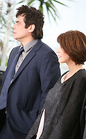 Benicio Del Toro and Gina McKee at the Jimmy P. Psychotherapy of a Plains Indian film photocall at the Cannes Film Festival 18th May 2013