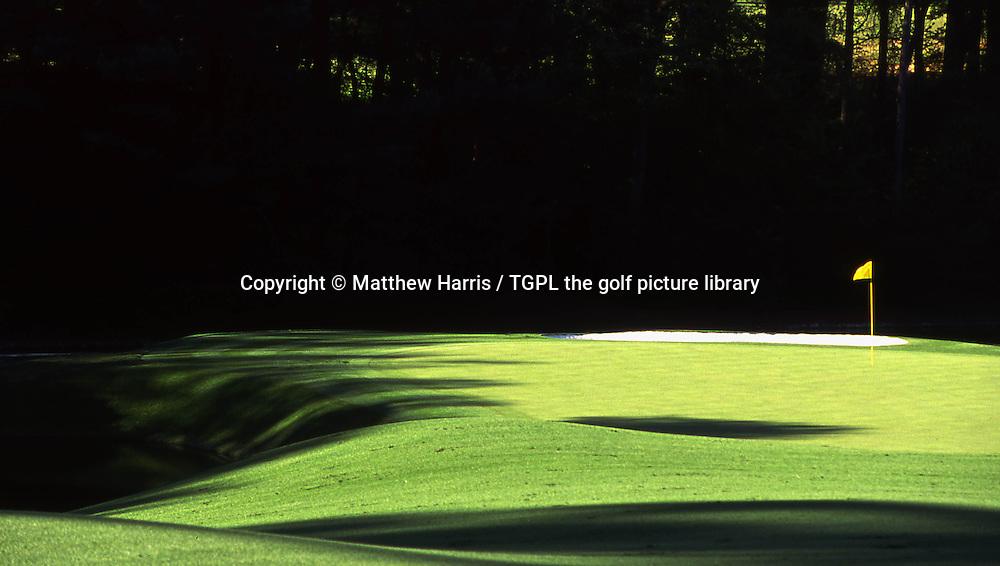 Augusta National Golf Club,Augusta,Georgia,USA.<br /> 11th par 4  the start of the famous Amen Corner: 11th par 4<br /> 12th par 3 and 13th par 5 holes.