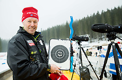 Uros Velepec, head coach of Slovenia during training day prior to the IBU Biathlon World cup at Pokljuka, on December 16, 2014 in Rudno polje, Pokljuka, Slovenia. Photo by Vid Ponikvar / Sportida